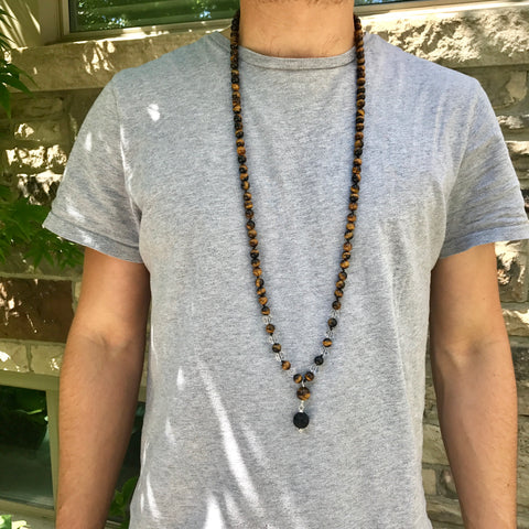 Men's Tiger Eye Mala
