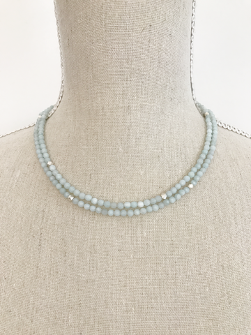 Amazonite Wrap Necklace