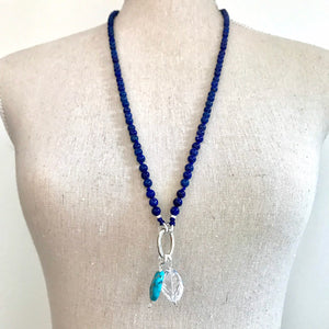This special Intention Mala necklace was created with beautiful 6mm Lapis Lazuli gemstones. This mala comes with a Crystal Quartz Charm like the one in the photos (the other charms are for show only and can be purchase separately).