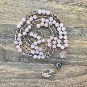 All About Love Rose Quartz Mala