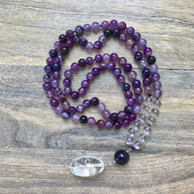 Load image into Gallery viewer, Purple Agate Mala Beads