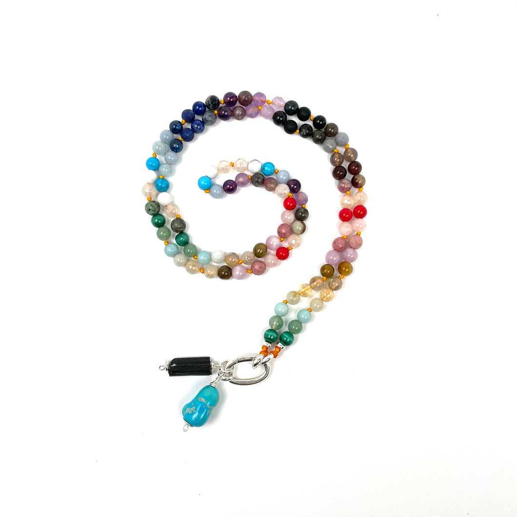 RAINBOW BEAD Intention Necklace