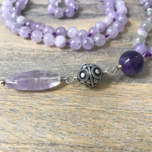 Load image into Gallery viewer, Lavender Amethyst and Moonstone Mala