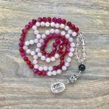 Rose Quartz and Agate Mala