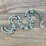 Burma Jade and Aventurine Mala