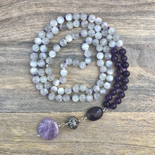 Load image into Gallery viewer, Moonstone and Amethyst Mala