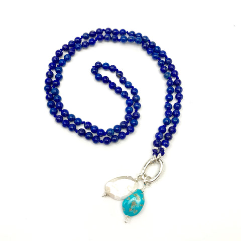 Spiritual seeker ~ Lapis Lazuli Intention Mala Necklace