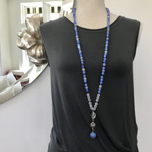 Load image into Gallery viewer, I'M COURAGEOUS Agate Mala Necklace