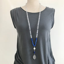 Load image into Gallery viewer, WISDOM Crystal and Lapis Mala Necklace