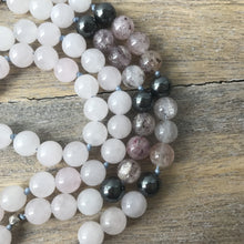 Load image into Gallery viewer, Rose Quartz and Strawberry Quartz Mala Beads