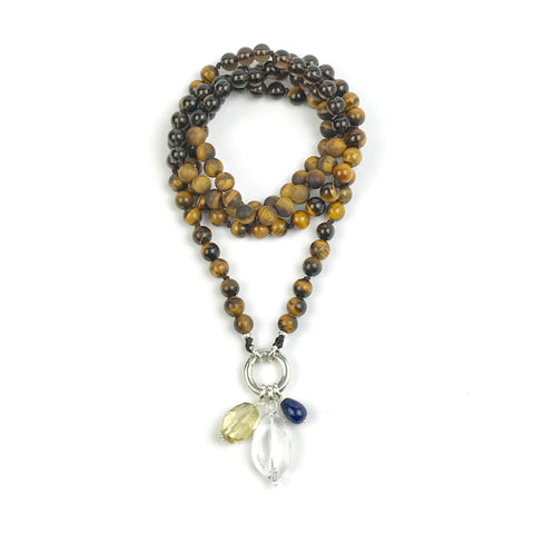I'M BALANCE~ Tiger Eye Intention Mala Necklace
