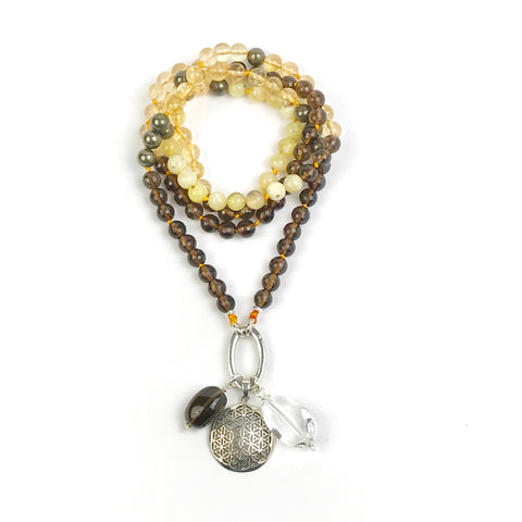 I AM JOY~ Citrine Intention Mala Necklace