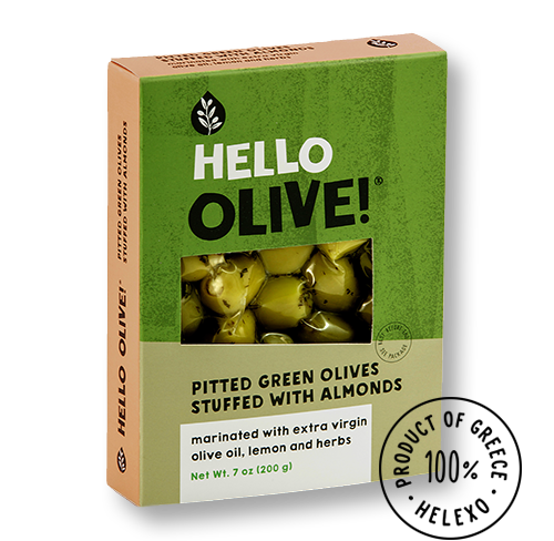 Pitted Green Olives Stuffed with Almonds