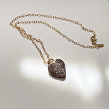 Load image into Gallery viewer, 14KT Gold Filled Raw Amethyst Heart Necklace