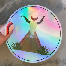 Load image into Gallery viewer, Desert Vibes Holographic Sticker