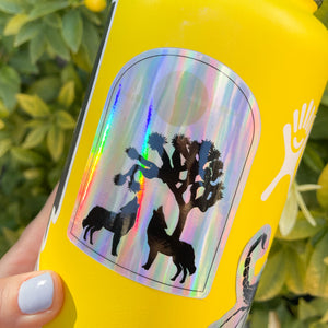 Joshua Tree Coyotes Holographic Sticker