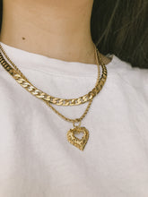 Load image into Gallery viewer, Gold Curb Chain Necklace