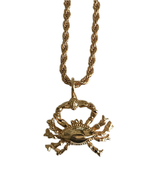 Crab Cancer Zodiac Necklace