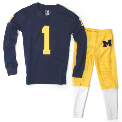 Wes & Willy Michigan Wolverines Football Pajama