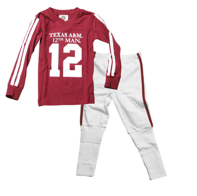Wes & Willy Texas A&M Aggies Football Pajama
