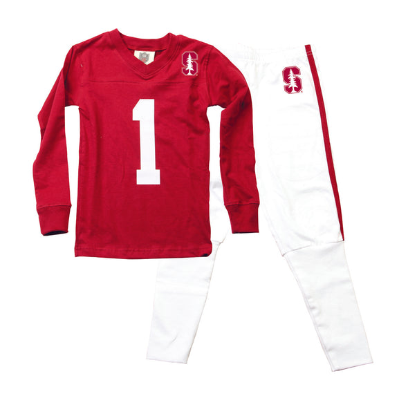 Wes & Willy Stanford Cardinals Football Pajamas