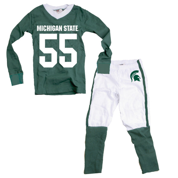 Wes & Willy Michigan State Spartans Football Pajamas