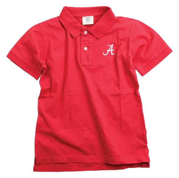 Wes & Willy Alabama Crimson Tide Boy's Polo-Red