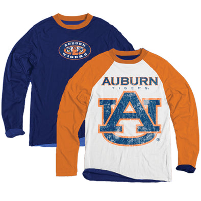 Wes & Willy Auburn Tigers Boy's Inside Out Tee