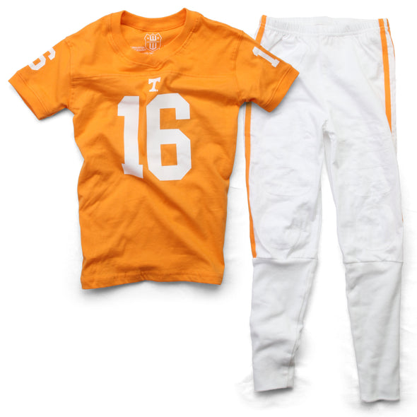 Wes & Willy Tennessee Volunteers SS Football Pajama