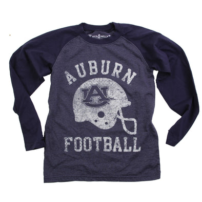 Wes & Willy Auburn Tigers Boy's Helmet Raglan