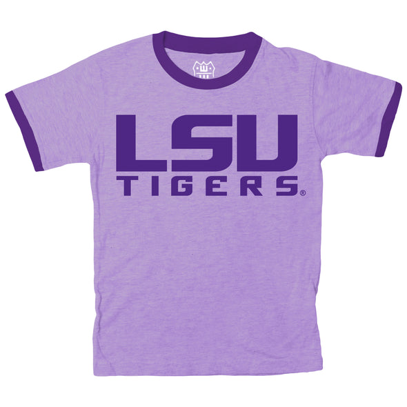 Wes & Willy LSU Tigers Boy's Ringer Tee