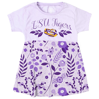 Wes & Willy LSU Tigers Infant's Floral Dress