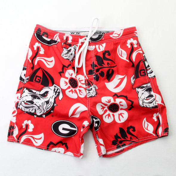 Wes & Willy Georgia Bulldogs Men's Swim Trunks