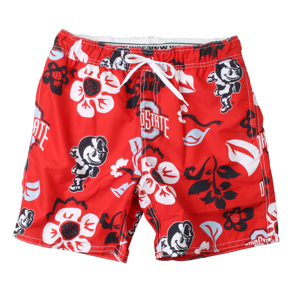 Wes & Willy Ohio State Buckeyes Men's Floral Swim trunks