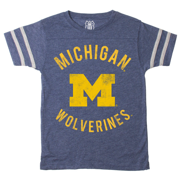 Wes & Willy Michigan Wolverines Boy's Triblend Tee
