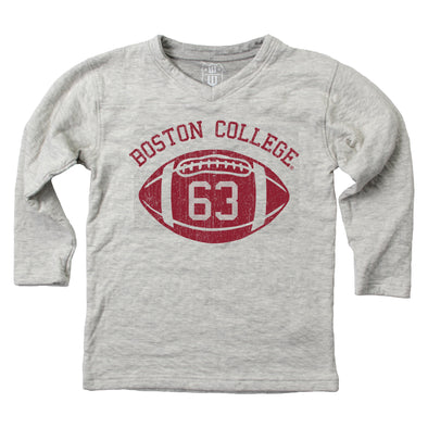 Wes & Willy Boston College Eagles Boy's V-Neck Football Shirt