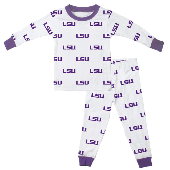 Wes & Willy LSU Tigers Allover Print Pajamas
