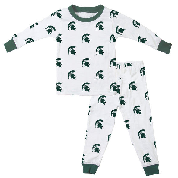 Wes & Willy Michigan State Spartans Allover Print Pajama