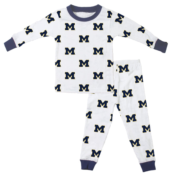 Wes & Willy Michigan Wolverines Allover Printed Pajama