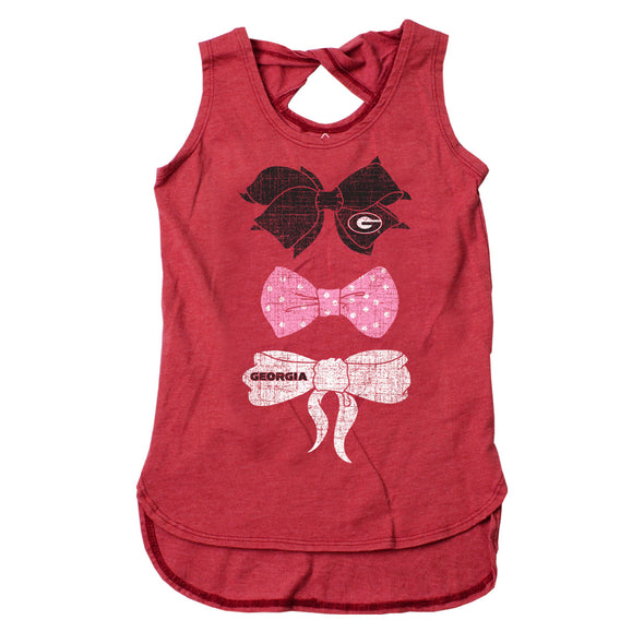 Wes & Willy Georgia Bulldogs Girl's Twist Back Tank Top