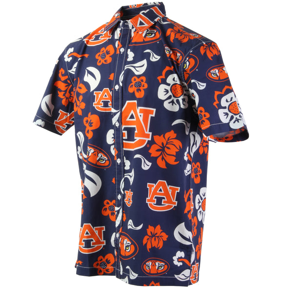 Wes & Willy Auburn Tigers Floral Men's Shirt
