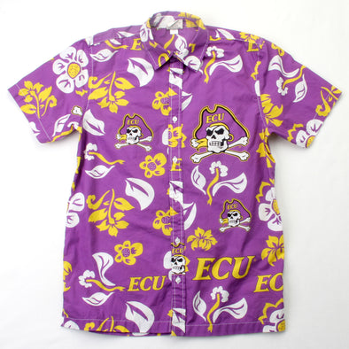 Wes & Willy East Carolina Pirates Men's Floral Shirt