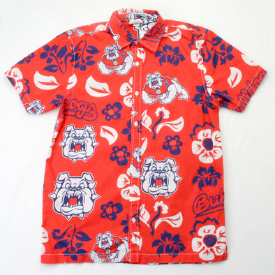 Wes & Willy Fresno State Bulldogs Men's Floral Shirt