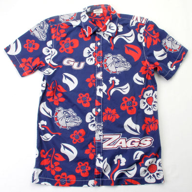 Wes & Willy Gonzaga Bulldogs Men's Floral Shirt