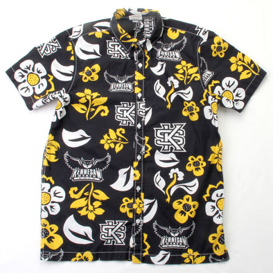 Wes & Willy Kennesaw State Owls Men's Floral Shirt