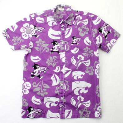 Wes & Willy Kansas State Wildcats Men's Floral Shirt