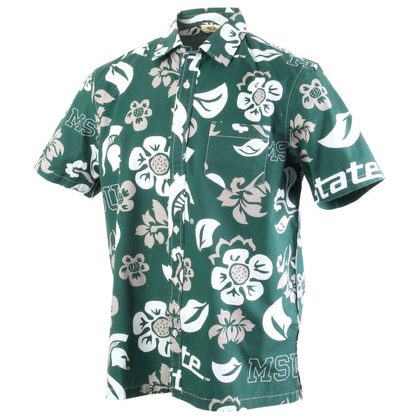 Wes & Willy Michigan State Spartans Men's Floral Shirt