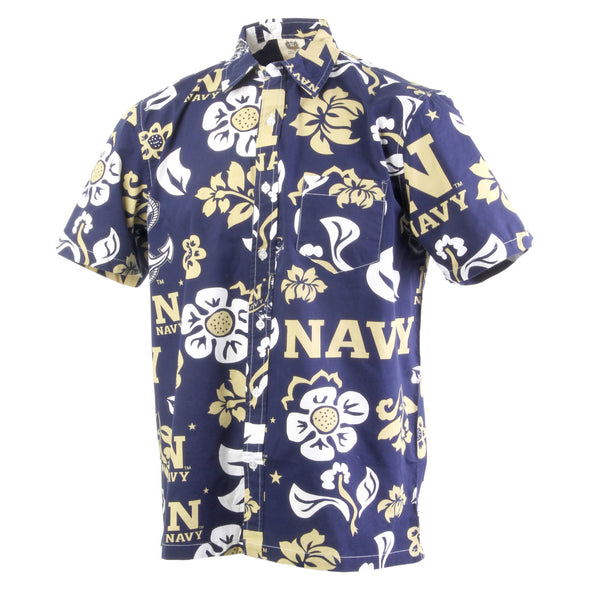 Wes & Willy Naval Academy Men's Floral Shirt