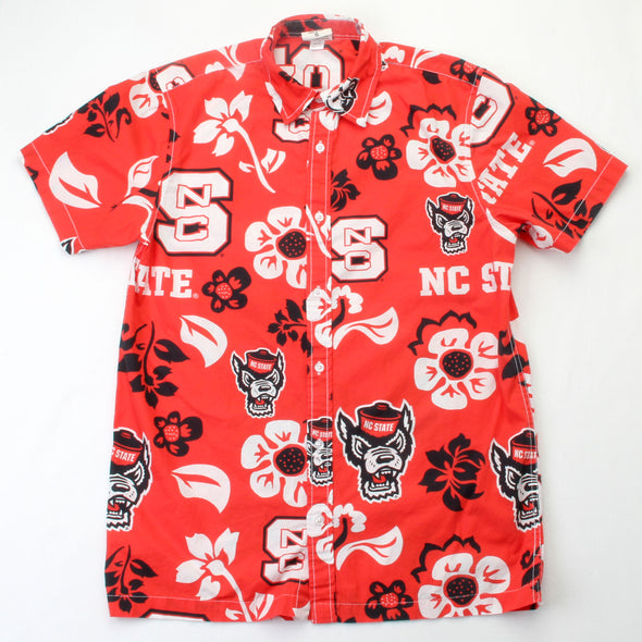 Wes & Willy North Carolina State Wolfpack Men's Floral Shirt