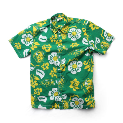 Wes & Willy North Dakota State Bison Men's Floral Shirt